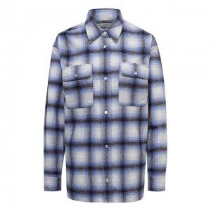 Шерстяная рубашка Isabel Marant Etoile. Цвет: синий