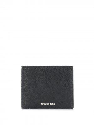 Бумажник Greyson из зернистой кожи Michael Kors. Цвет: черный