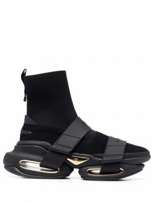 Высокие кроссовки B-Court Balmain. Цвет: черный