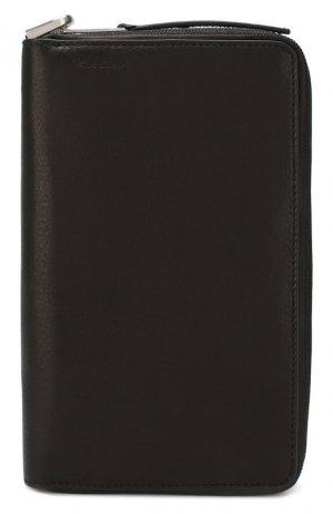 Кожаный футляр для кредитных карт Rick Owens. Цвет: черный