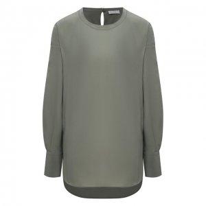 Шелковая блузка Brunello Cucinelli. Цвет: зелёный