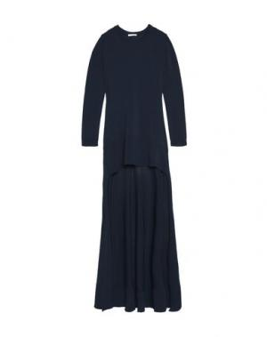 Короткое платье ANTONIO BERARDI. Цвет: темно-синий