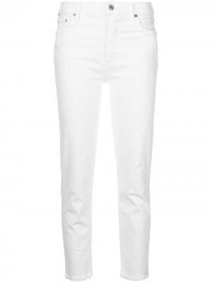 Укороченные джинсы свободного кроя Citizens of Humanity. Цвет: белый