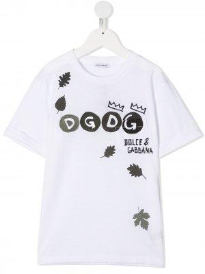 Logo-print T-shirt Dolce & Gabbana Kids. Цвет: белый