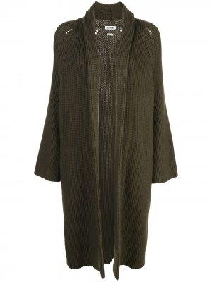 Кардиган-пальто без застежки Jason Wu. Цвет: зеленый