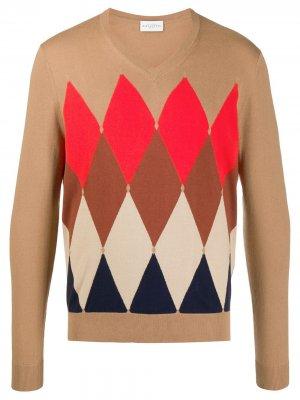 Argyle knit jumper Ballantyne. Цвет: нейтральные цвета