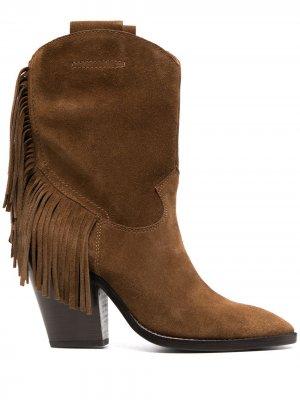 Ботинки с бахромой Ash. Цвет: коричневый