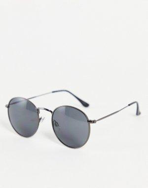 Круглые солнцезащитные очки -Черный цвет Jack & Jones