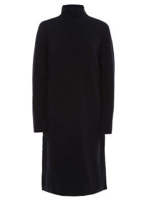 Платье из смесовой шерсти BY MALENE BIRGER. Цвет: черный