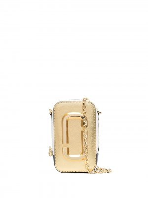 Мини-сумка через плечо на молнии Marc Jacobs. Цвет: нейтральные цвета