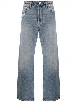 Levis широкие джинсы с эффектом потертости Levi's. Цвет: синий