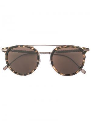 Tods солнцезащитные очки-авиаторы Tod's. Цвет: коричневый