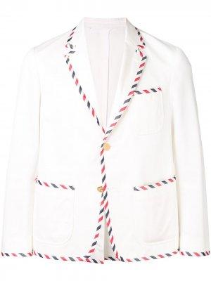Пиджак-смокинг Thom Browne. Цвет: белый