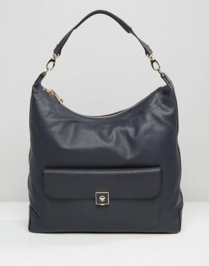 Кожаная сумка на плечо Hobo Modalu. Цвет: темно-синий