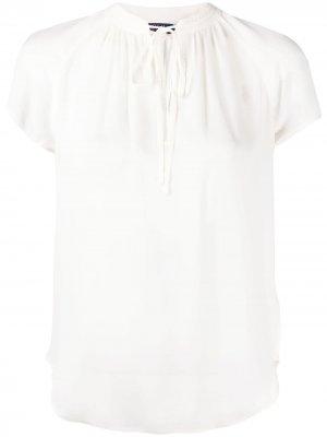 Tie-neck short-sleeved T-shirt Polo Ralph Lauren. Цвет: нейтральные цвета