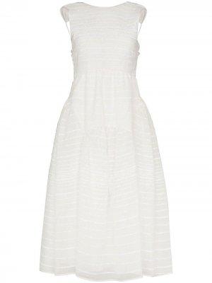 Платье миди Harlow Cecilie Bahnsen. Цвет: белый