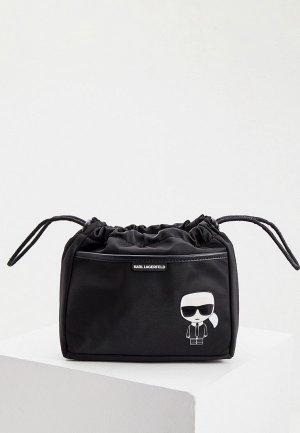Косметичка Karl Lagerfeld IKONIK. Цвет: черный