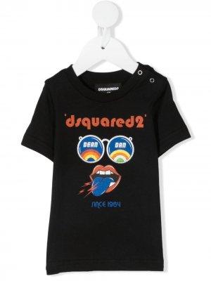 Футболка с графичным принтом Dsquared2 Kids. Цвет: черный