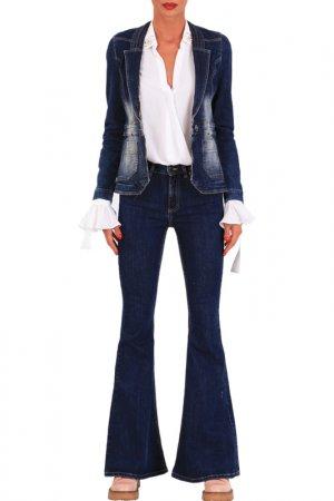 Jeans jacket JUNONA. Цвет: blue
