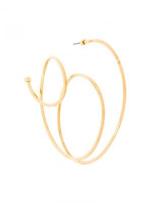 Серьга закругленной формы Balenciaga. Цвет: металлик