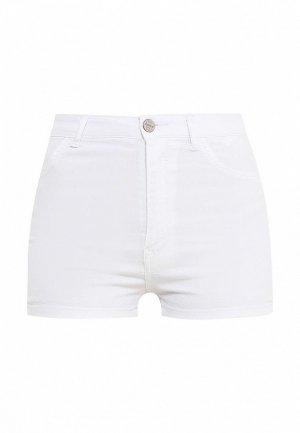 Шорты джинсовые Alcott. Цвет: белый