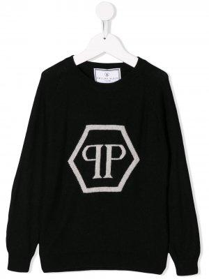 Пуловер Signature Philipp Plein Junior. Цвет: черный