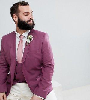 Пиджак скинни PLUS Wedding-Фиолетовый Noose & Monkey