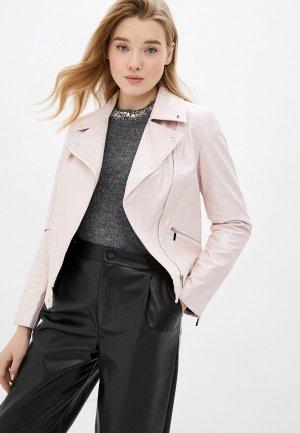 Куртка кожаная MD. Цвет: розовый