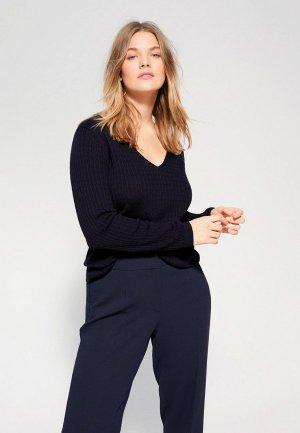 Пуловер Violeta by Mango - CABLE. Цвет: синий