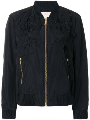 Классическая куртка-бомбер Michael Kors. Цвет: чёрный