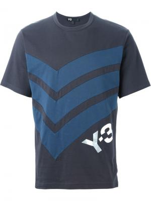 Футболки и жилеты Y-3. Цвет: серый