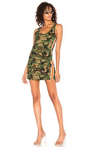 Платье-майка Pam & Gela. Цвет: зеленый