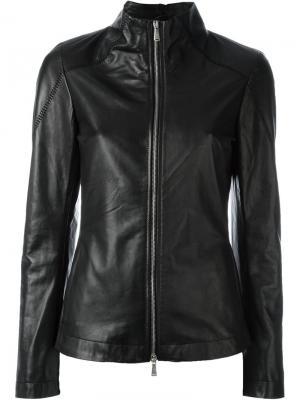 Куртка на молнии 10Sei0otto. Цвет: чёрный