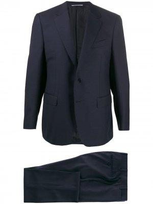 Костюм с однобортным пиджаком Canali. Цвет: синий