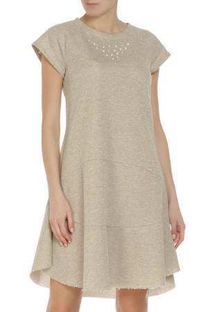 Платье Rinascimento. Цвет: золотистый