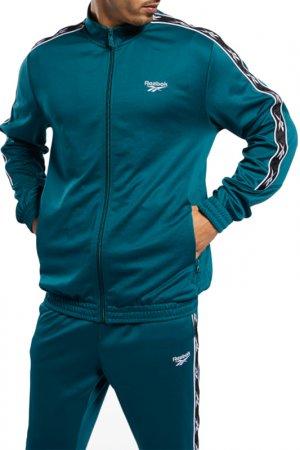 Олимпийка CL F VECTOR TAPE Reebok. Цвет: зеленый