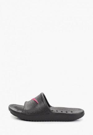 Сланцы Nike KAWA SHOWER LITTLE/BIG KIDS SLIDE. Цвет: черный