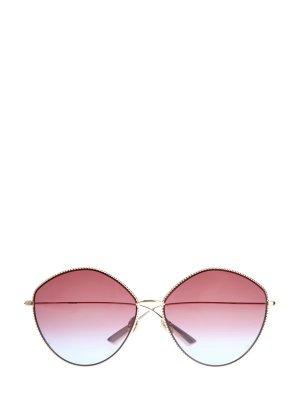 Очки-oversize DiorSociety4 в оправе с фактурным узором DIOR (sunglasses) women. Цвет: коричневый