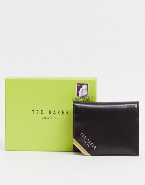 Коричневый бумажник с металлическим уголком Koring Ted Baker