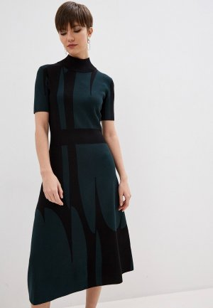 Платье Boss. Цвет: зеленый