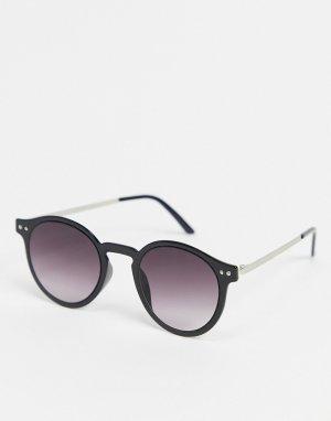 Круглые солнцезащитные очки в черной оправе British Summer-Черный цвет Spitfire