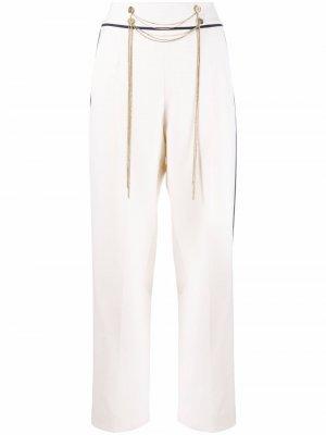 Chain-detail tailored trousers Oscar de la Renta. Цвет: нейтральные цвета