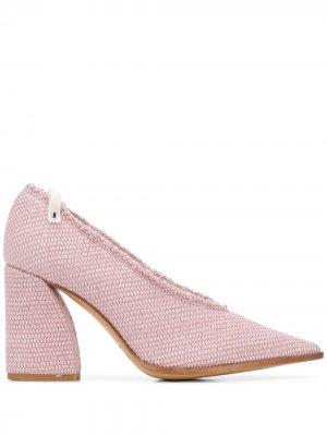 Туфли-лодочки Decolette на блочном каблуке Premiata. Цвет: розовый
