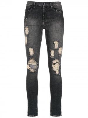 Rocker Three skinny jeans Amapô. Цвет: черный
