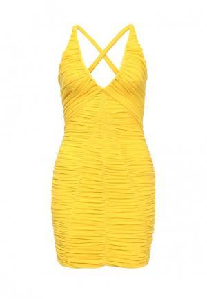 Платье Bebe. Цвет: желтый