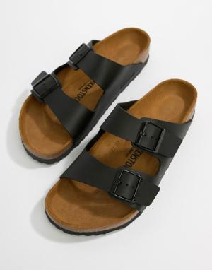 Черные сандалии Arizona birko-flor-Черный Birkenstock