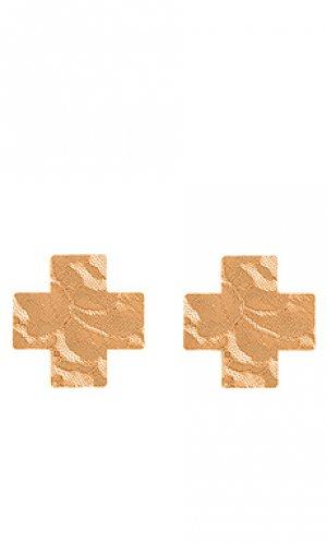 Стикини cross nippies Bristols6. Цвет: беж