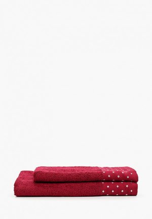 Набор полотенец Эго 50х85 см, 70х135 см. Цвет: бордовый