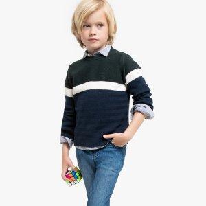 Пуловер La Redoute. Цвет: зеленый