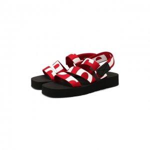 Текстильные сандалии Proenza Schouler. Цвет: красный